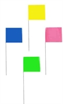 Picture of 4 X 5 X 21'' WIRE FLAGS-GLO COLORS.